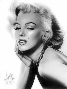 New Ideas Drawing People Woman Marilyn Monroe Marilyn Monroe Tattoo, Arte Marilyn Monroe, Marilyn Monroe Drawing, Marilyn Monroe Photos, Laser Tag, Pin Up, Foto Portrait, Pencil Portrait, Legally Blonde