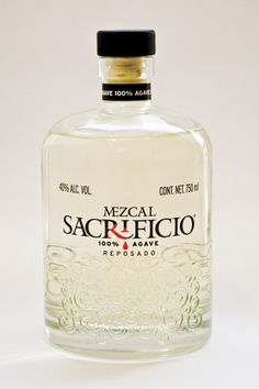 Mezcal Sacrifice: made with agace sprat and allowed to stand in white oak barrels (unroasted Mexican) for 3 months. light, with lingering smoothness and flavor. This mezcal won double gold medal in the WSWA Tasting Competition 2015 spirits Alcohol Bottles, Liquor Bottles, Drink Bottles, Mezcal Tequila, White Oak Barrels, Gin Brands, Rum Bottle, Strong Drinks, In Vino Veritas
