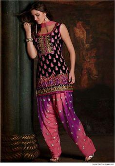 Printed Fabric Salwar Suit Neck Designs