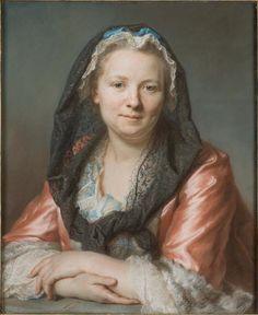 Maurice Quentin de La Tour (1704-1788)  Portrait de Madame Restout en coiffure, 1738  Pastel  Orléans, Musée des Beaux-Arts  Photo: Musée des Beaux-Arts d'Orléans