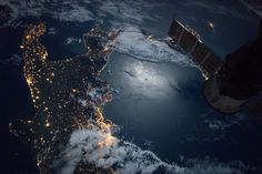 Space Station Flight Over the Southern Tip of Italy #NASA #ImageoftheDay