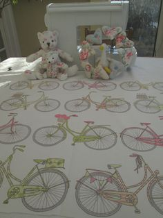 BN Scrumtious Ashley Wilde Cotton Duck Fabric In Bicycle Totnes Coral