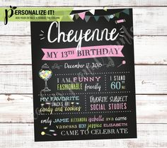 Candy Land Shop Birthday Party Poster by PeachyPeanutPrints