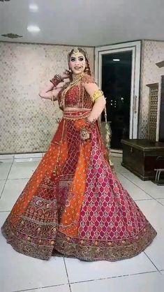 Indian Bridal Outfits, Indian Bridal Fashion, Indian Bridal Wear, Indian Fashion Dresses, Desi Wedding Dresses, Pakistani Bridal Dresses, Rajasthani Bride, Dulhan Dress, Wedding Lehenga Designs