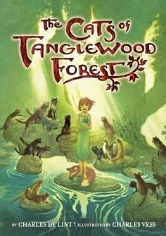 The Cats of Tanglewood Forest by Charles De Lint FIC DEL Twelve-year-old Lillian, an orphan who loves roaming the woods looking for fairies when her chores are done, is bitten by a deadly snake and saved through the magical forest creatures in this expansion on the author's and illustrator's previous work, A Circle of Cats.