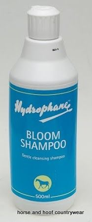 Hydrophane Bloom Shampoo A rich cleansing frequent use shampoo that leaves the coat fresh and clean A must have.