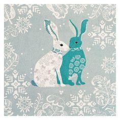 Buy Woodmansterne Design Of Hares Christmas Card Online at johnlewis.com