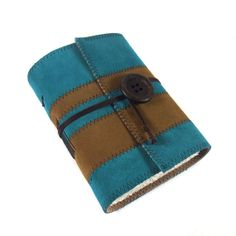 Journal Leather Diary Handmade Stripes by Kreativlink on Etsy, €32.00