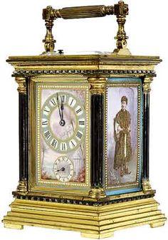All About Antique Carriage Clocks Unusual Clocks, Cool Clocks, Victorian Style Decor, Travel Alarm Clock, Alarm Clocks, French Clock, Carriage Clocks, Retro Table, Clock Shop