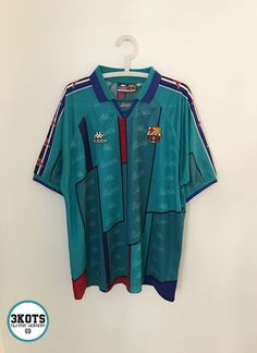 1ee955cc7 BARCELONA FC 1995 97 Away Football Shirt L XL Soccer Jersey KAPPA Vintage  Maglia
