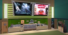 Movie Theater, Theatre, Sims 2, Cyber, Flat Screen, Tv, Movies, Cinema, Blood Plasma