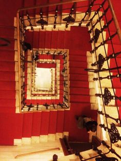 After Mozart: Way down in the staircase in the Musikverein in Vienna/ Austria.