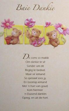 Afrikaans Thank You cards. Baie Dankie, Bible Journaling For Beginners, Afrikaanse Quotes, Bible Images, Goeie Nag, Goeie More, Baby Keepsake, Sweet Quotes, Sweet Sayings