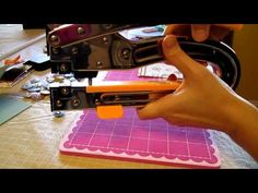 """▶ Tutorial with Big Bite and Sew Easy by We R Memory Keepers - YouTube Demonstrating on: Basic Card Making 101: 8 1/2"""" X 11"""" sheet of paper. Cut in half. Get 2 cards (A2) size out of one sheet of cardstock. How to video on using the Big Bite with eyelets and snaps."""