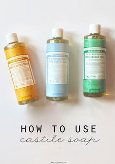 Castile soap is the ultimate natural, effective and safe soap for you home and DIY cleaners. Learn all about it here! @cleanmama