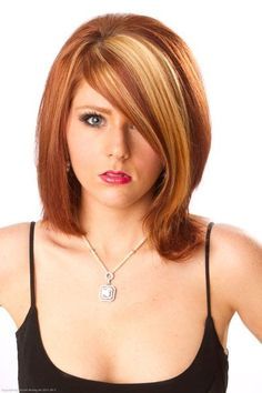 highlights+for+red+hair | , red highlights and lowlights, chunky highlights, auburn hair ...
