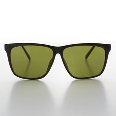 b1cc9349496 Large Square Vintage Sunglass with Olive Green Lens - Denmark