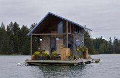 Floating Cabin, Perry Creek, Maine. Photo by Marcus Peabody.