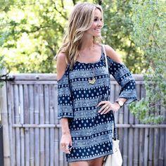 Style Blogger, Lauren Sims in our Marni Cold-Shoulder Dress.Available on www.norestforbridget.com #styleblogger