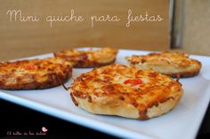 EL TALLER DE LOS DULCES: ♥ Mini quiche de queso y bacon para fiestas.