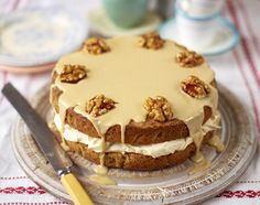 The best coffee and walnut cake...This cake is a favourite afternoon pick-me-up, but you can use decaf coffee if you are baking for children or  anyone sensitive to caffeine... dessert recipes | serves 12