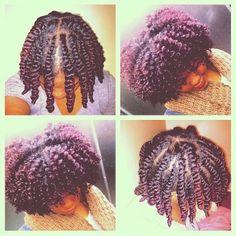 style de coiffure avec des vanilles démontées (Flat twistout) sur cheveux naturels