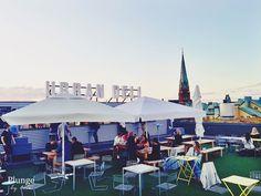 Rosé-ilta Tukholman kattojen yllä