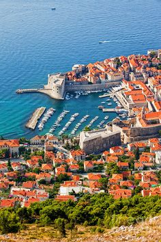 Dubrovnik and the Adriatic, Croatia. I've actually been there and it was gorgeous