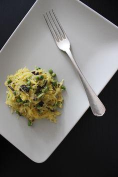 Trend Spaghetti Squash: Leckeres Rezept für Kürbis-Spaghetti mit Beef Jerky und Erbsen