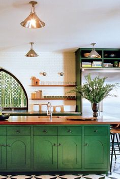 If you are looking for Green Kitchen Cabinets Design Ideas, You come to the right place. Here are the Green Kitchen Cabinets Design Ideas. Kitchen Cabinets Home Depot, Green Kitchen Cabinets, Kitchen Cabinet Colors, Kitchen Colors, Kitchen Remodel, Green Kitchen Island, Kitchen Cabinet Inspiration, Interior S, Interior Design