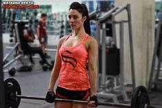 @strongliftwear Womens 'Figure' Singlet - Orange / Black