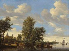 Salomon_van_Ruysdael_-_Rivierlandschap_met_veerpont_(1649).jpg (4999×3743)