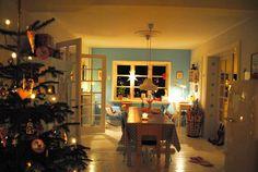 Mor til MERNEE: Jul på 1. salen..... & aftenstemning....