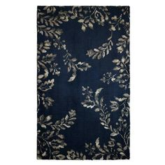 Winchester Plush Knit Navy Blue 2 ft. 3 in. x 3 ft. 9 in. Accent Rug