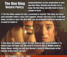 The One Ring ReturnPolicy