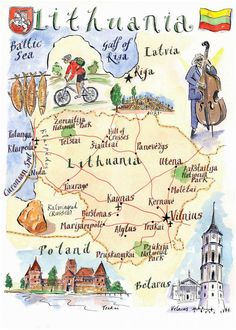 Lithuania attractions map