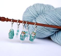 Using Stitch Markers helps you keep track of where you are at. For Knitting you can slip these 3 different ring sizes on to your needle and keep track of the pesky stitch counts, Yarn Overs, SSk...etc