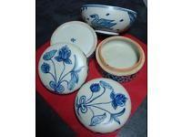Set - 2 Keramikdosen und 1 Schale im Chinesischen Stil