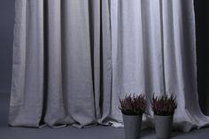 Natural linen curtains / Natural linen window panel by LinenCloud