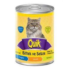 Lezzetli ve sağlıklı QUIK biftekli sebzeli yaş mama, kolay sindirilen protein içeriği ve lezzeti ile kedinizin çok hoşuna gidecektir. Kedilerin severek yiyeceği servise hazır tam ve dengeli bir mamadır. Tek başına ya da kuru mama ile karıştırılarak servis edilebilir. Hayvansal proteinlerin yanı sıra A, D3 ve E vitaminleri içerir. QUIK, kedinizin günlük ihtiyaç duyduğu bütün besin maddelerini içeren kaliteli gıdalardan hazırlanmıştır ve tek başına verilebilir. Oda sıcaklığında servis edin…