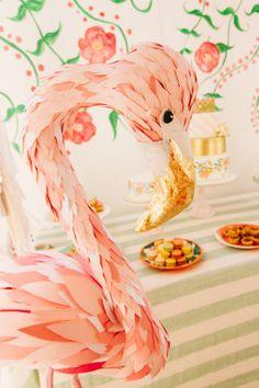 Flamingo party! http://www.stylemepretty.com/living/2015/07/14/flowery-flamingo-3rd-birthday-party/ | Photography: Pabelona Studio - http://pabelonastudio.com/