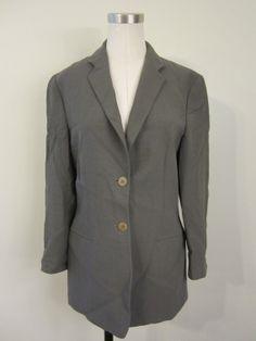 Giorgio Armani Grey Wool Blazer Size 44 Made in Italy $149.99