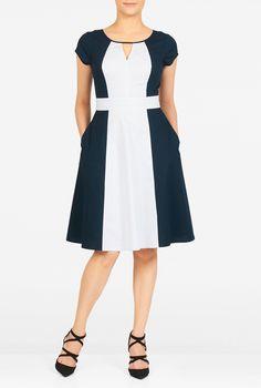 Women's Fashion Clothing and Custom Casual Summer Dresses, Simple Dresses, Short Dresses, Vestidos Retro, Nautical Dress, Fit N Flare Dress, Daily Dress, Batik Dress, Check Dress