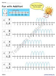 Grade 1 Math Worksheets: Making Math Visual SAMPLE from Luminous Learning on… 1st Grade Math Worksheets, First Grade Math, Grade 1, Math Addition, Addition And Subtraction, Addition Worksheets, Math Resources, Math Activities, Math Blocks