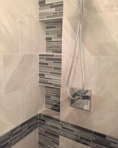 Corner double #shower soap #niches what can you ask for! #skillconstructionanddesign @designsbyskill by designsbyskill