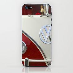 Samba microbus hippiebus Volkswagen iPhone & iPod Skin by Premiumfotograf - $15.00