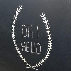 Sticker {Oh Hello} - stickers muraux - Little paper  - Fait Maison