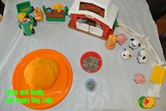Frogs and Snails and Puppy Dog Tails: Scented playdough and farm themed play