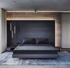 I love the simplicity of this grey, white and timber bedroom. Yet it is very sophisticated