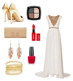 """Gold digger"" by smelsmel on Polyvore featuring Marchesa, Gianvito Rossi, Annette Ferdinandsen, Mulberry, Eddie Funkhouser, OPI, women's clothing, women's fashion, women and female"